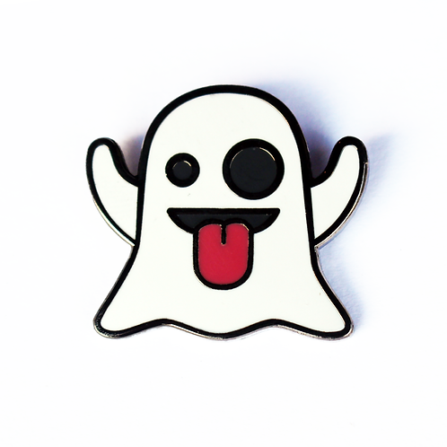 Ghost Emoji Pin – Enamel Pin for your Life