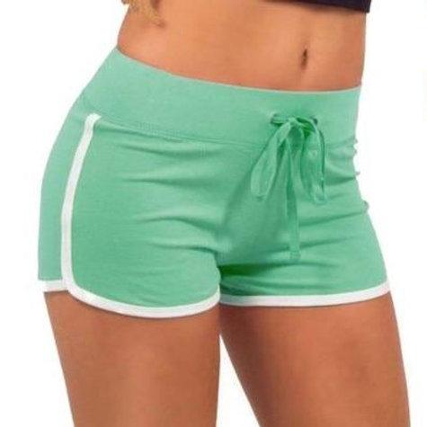 Yoga Sportswear Shorts Women Striped Workout Jogging Fitness Short
