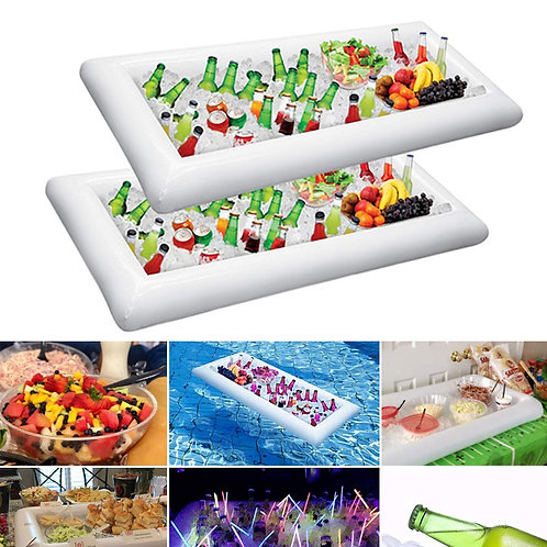 Inflatable Ice  Serving Drink Holder Cooler BBQ Picnic Pool Party