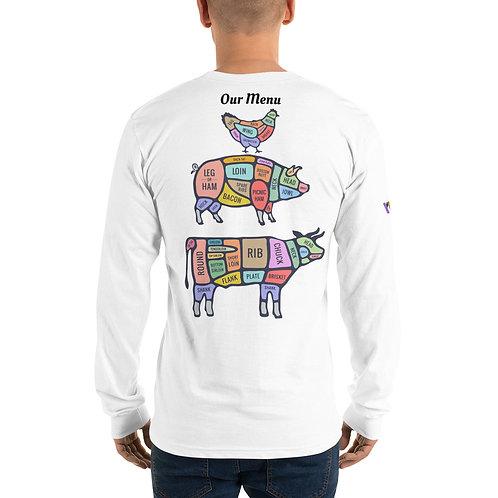 Meat Bar Menu Long sleeve t-shirt