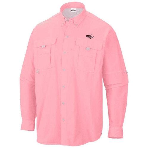 Women's 50 UV Embroidered Button Down Kraken Fishing Shirt