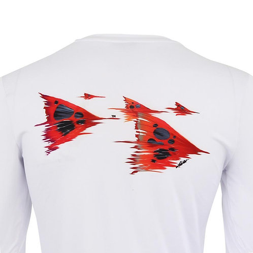 Women's 50 UV Redfish Tails Solar Performance Fishing Shirt