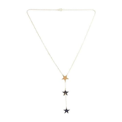 3 Star Drop Necklace