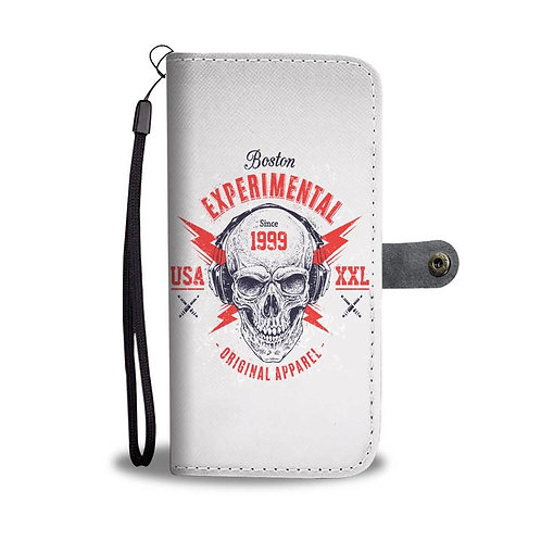 Boston Experimental Skull RFID Wallet Phone Case