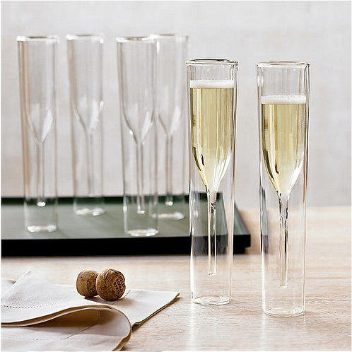 Champagne Glass Double Wall Glasses Flutes
