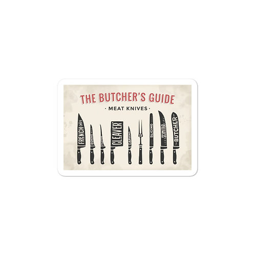 Butcher Blades Guide Bubble-free stickers