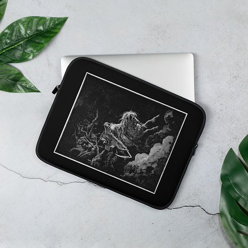 Pale White Horse Laptop Sleeve