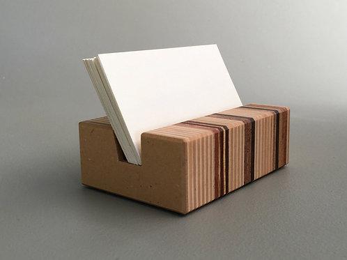 Desk Business Card Holder in Striped Wood