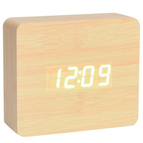 Square Wood Digital Desk Clock