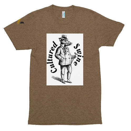 Cultured Swine Tri-Blend Track Shirt