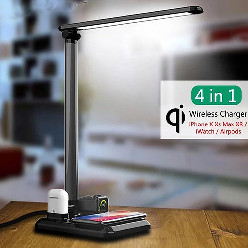 4-in-1 Wireless Charger + Lamp