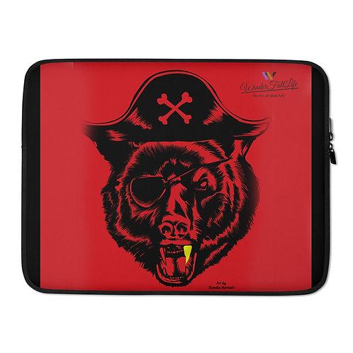 "Black Beard Bear Laptop Sleeve 15"""