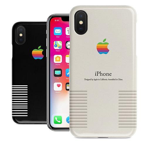Retro Macintosh Apple Vintage Old Logo Black or White iPhone Case