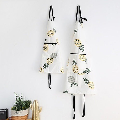 Pineapple Print Cotton Apron