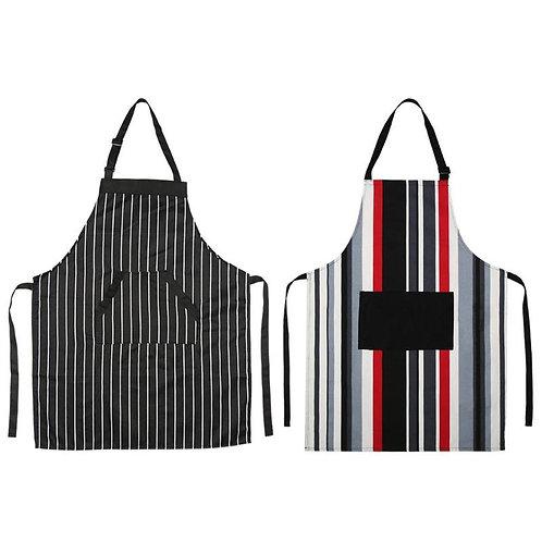 Striped Cotton Apron Restaurant Chef Kitchen
