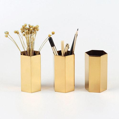 Electroplated Gold Vase