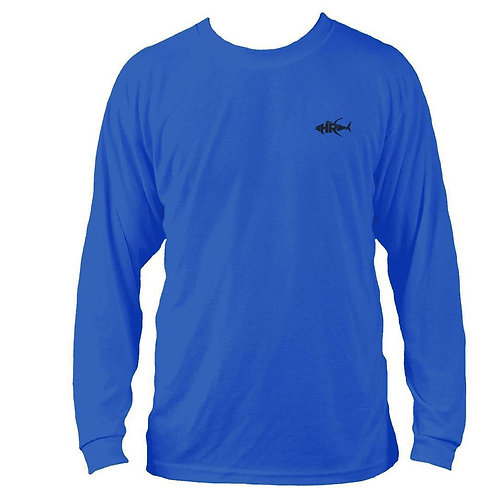 Women's 50 UV Blue Crab Performance Fishing Shirt