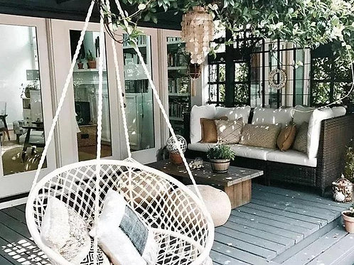 Swing Chair,  Outdoor leisure chair, white chair, hammock (60x80)