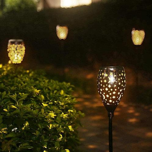 Star Moon Solar Lamps Garden Stake Light Outdoor Garden Stake Light