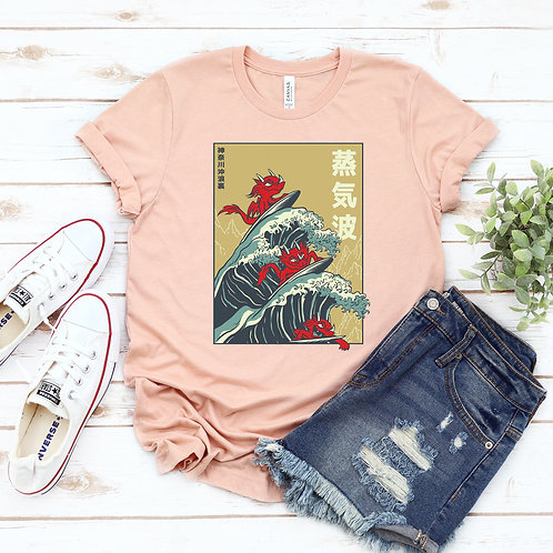 Dragons Surfing Waves T-shirt