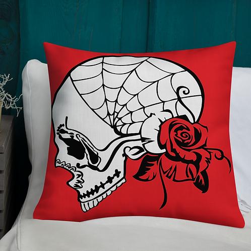 Skull of Roses Premium Pillow