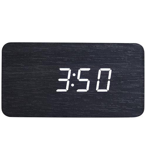 Rectangle Wood Digital Desk Clock