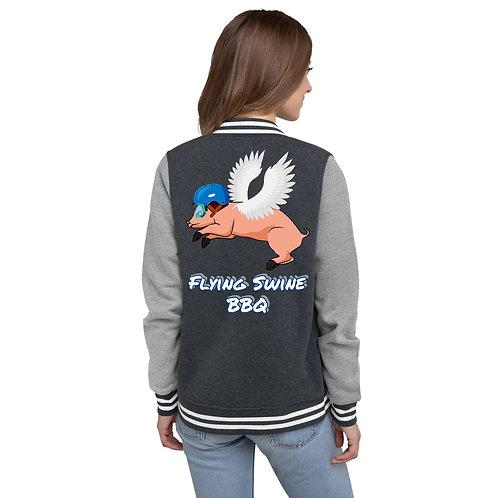 Women's Flying Swine Letterman Jacket