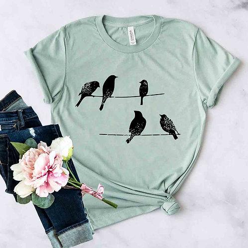 Birds On Wire Shirt