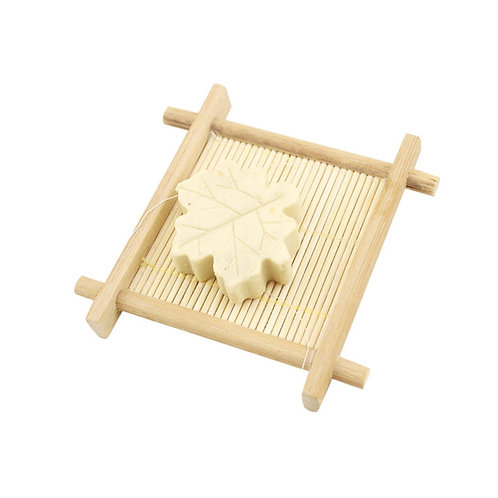 Natural Bamboo Wood Bathroom Shower Soap Tray Dish