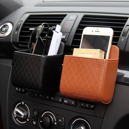 Car Styling Auto Vent Outlet storage or trash Box for Car