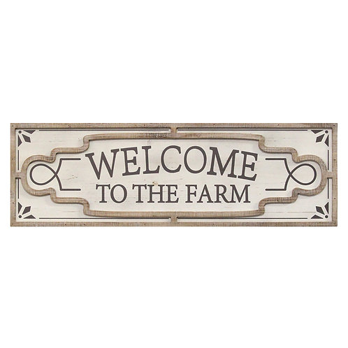 White Wash Welcome to the Farm Sign
