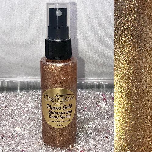 Dipped Gold Shimmering Body Spray
