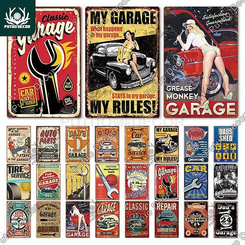 Garage Metal Sign Vintage