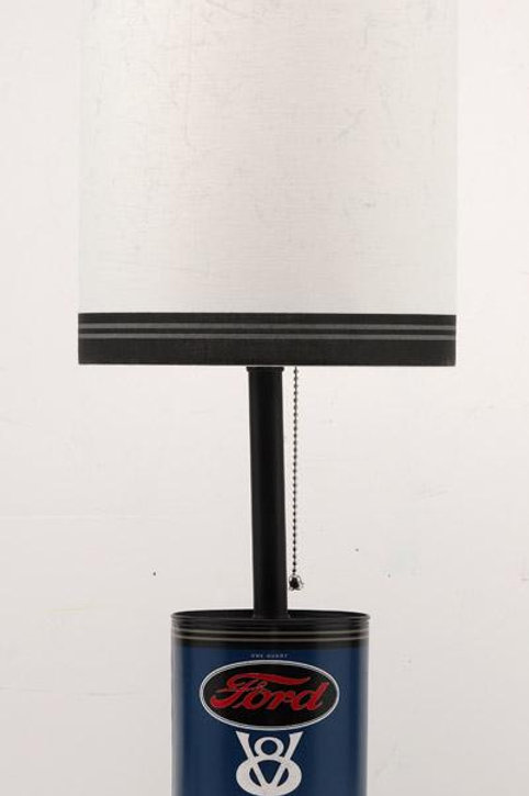 Open Road Brands  23.38 in. Natural  Blue  Ford Oil Can Desk Lamp