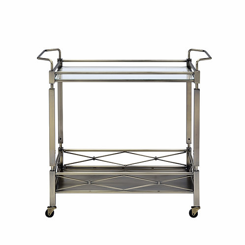 Antique Brass Metal Serving Bar Cart