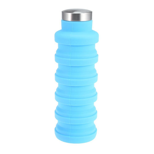 500ML Portable Silicone Water Bottle Retractable Folding Coffee Bottle