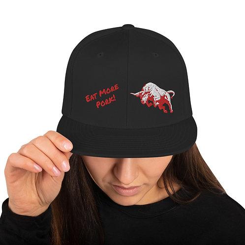 Eat More Pork Snapback Hat