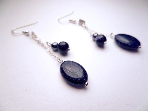 alysia robear designs handmade long silver earrings
