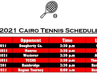 2021 Tennis Schedule