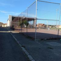 Pabellón y pista de tenis