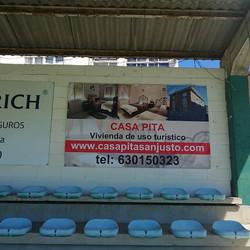 Cartel en Campo Fútbol Eragudina
