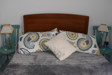 Dormitorio amarillo-azul