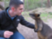 Making Friends with a Wallaby in Austrlia