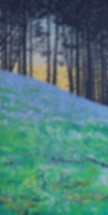 Sally O'Neill Art Painting Acylic Devon Dartmoor Bluebell woods
