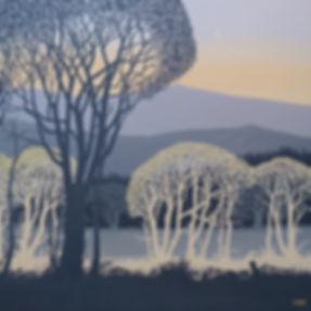Early Spring Morning Sally O'Neill Art Painting Acylic Devon Dartmoor