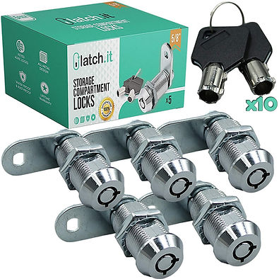 """5 Pack Compartment Locks (5/8"""", 7/8"""", or 1 1/8"""")"""