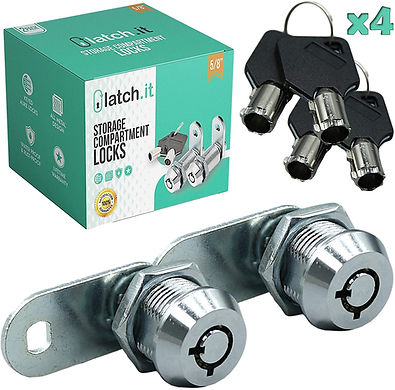 """2 Pack Compartment Locks (5/8"""", 7/8"""", or 1 1/8"""")"""