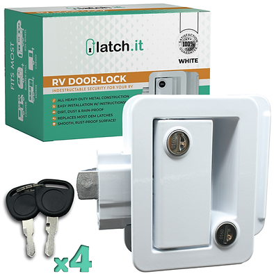 RV Mechanical Door Lock - White