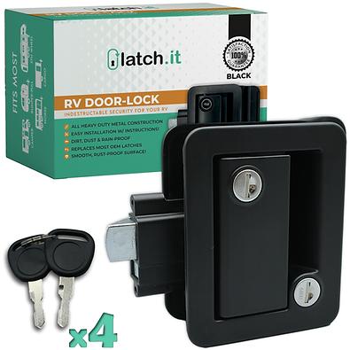 RV Mechanical Door Lock - Black