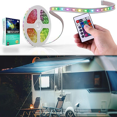 Complete RV Awning 12' LED Strip Set